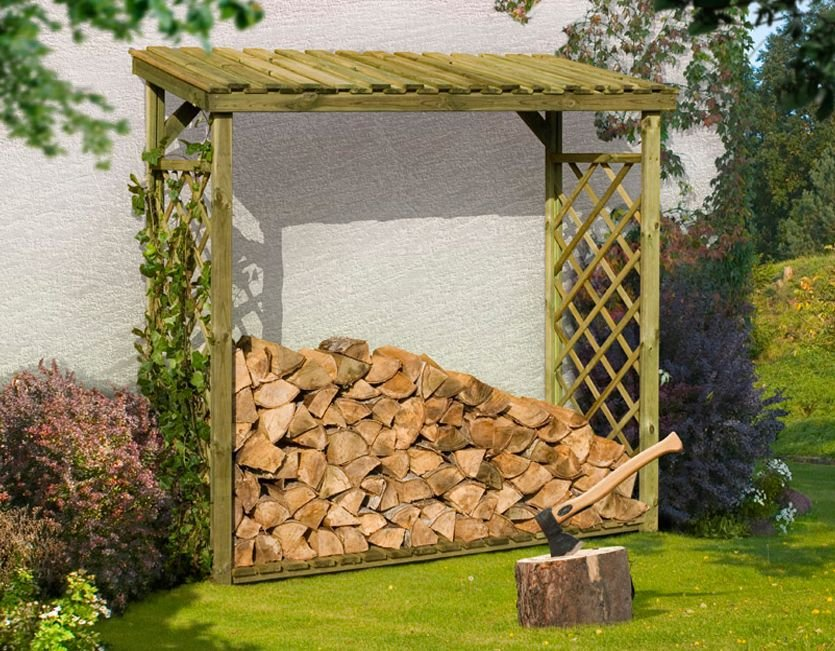 kaminholzunterstand brennholz kamin holz dach unterstand xl ebay. Black Bedroom Furniture Sets. Home Design Ideas