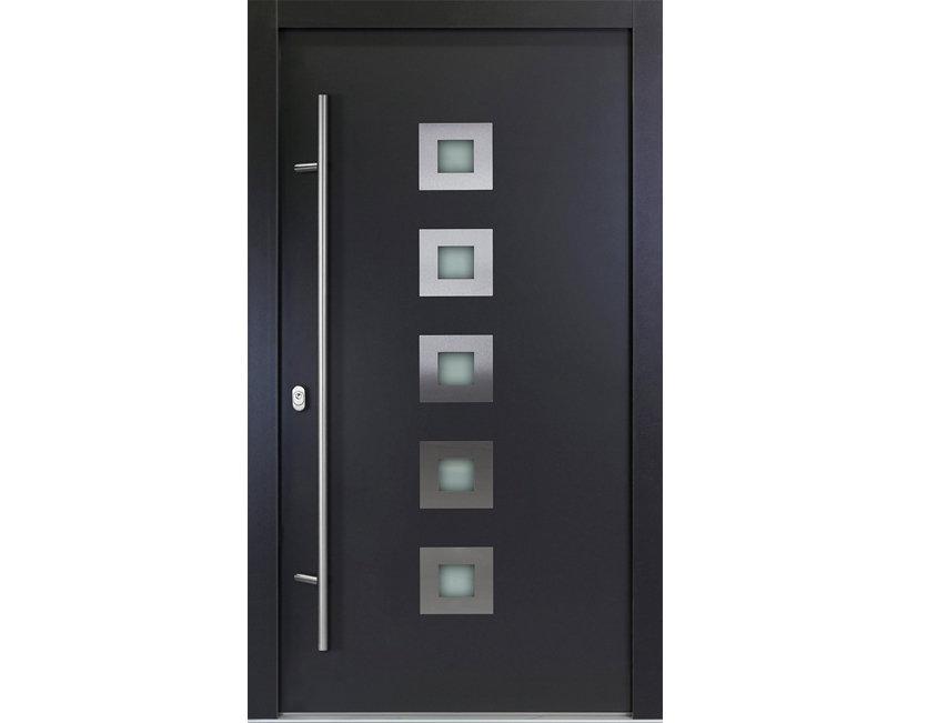aluminium haust r wei anthrazitgrau modell malte verschied ma e ebay. Black Bedroom Furniture Sets. Home Design Ideas