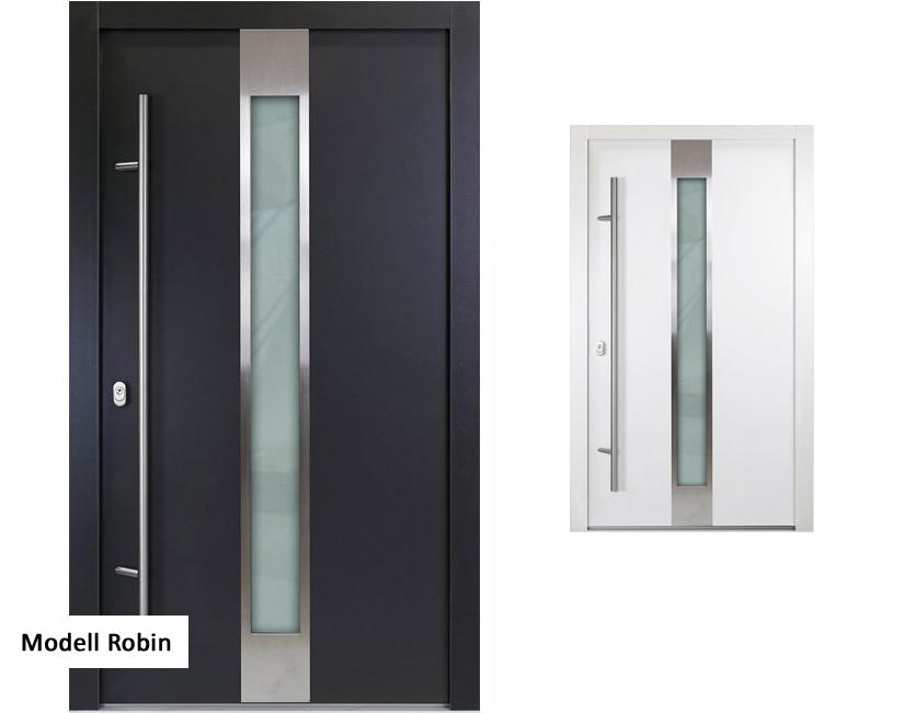 aluminium haust r verschiedene modelle wei anthrazit rahmen 92 mm neu ebay. Black Bedroom Furniture Sets. Home Design Ideas