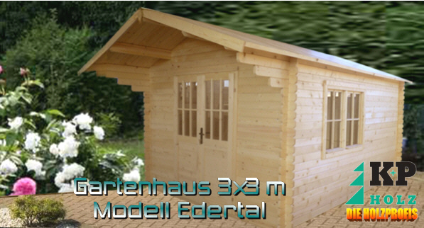 gartenhaus gartenh user blockbohlenhaus 4 x 4 m 35mm ebay. Black Bedroom Furniture Sets. Home Design Ideas