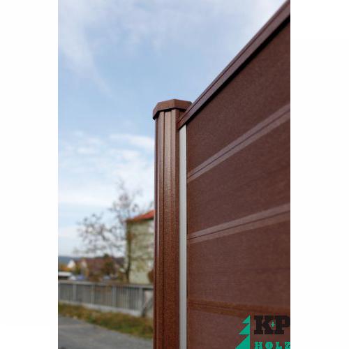 Sichtschutzzaun Holz Abmessungen ~ Details zu WPC TERRASSO Sichtschutzzau n Holzzaun Lamellenzaun Zaun