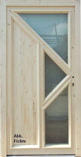 NebeneingangstUr Holz 5 Fach Verriegelung ~ Details zu Holz Haustür HAUSTÜREN Schrecksbach Tür Fichte NEU