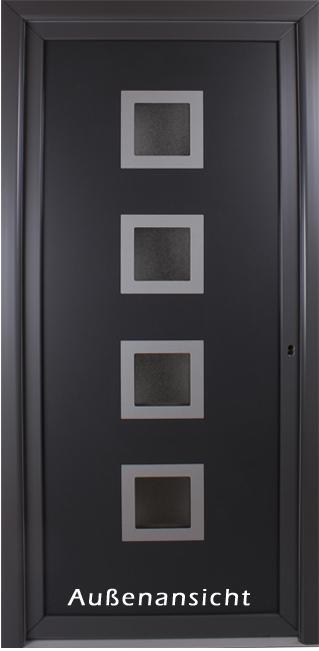 kunststoff haust r anthrazit nebeneingangst r rimini t ren. Black Bedroom Furniture Sets. Home Design Ideas