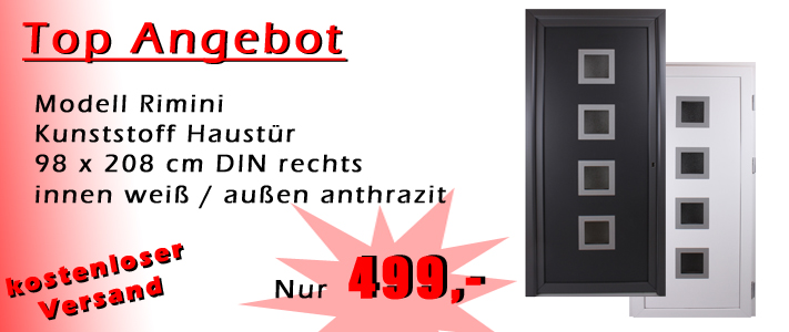 kunststoff haust r anthrazit nebeneingangst r rimini t ren. Black Bedroom Furniture Sets. Home Design Ideas