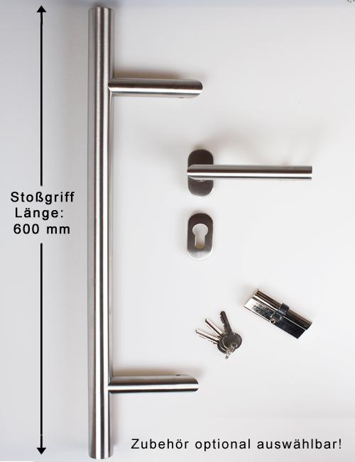 NebeneingangstUr Holz 5 Fach Verriegelung ~ Kunststoff HAUSTÜR Haustüre Nebeneingangstür anthrazit weiß Neapel
