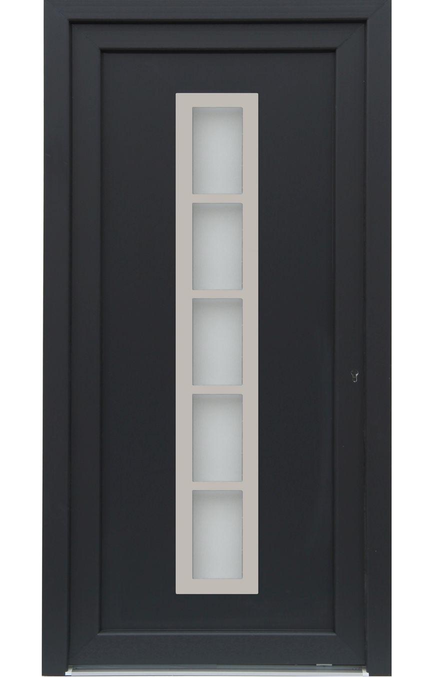 kuporta Kunststoff Haust/ür Merida T/üren 98 x 200 cm DIN rechts wei/ß